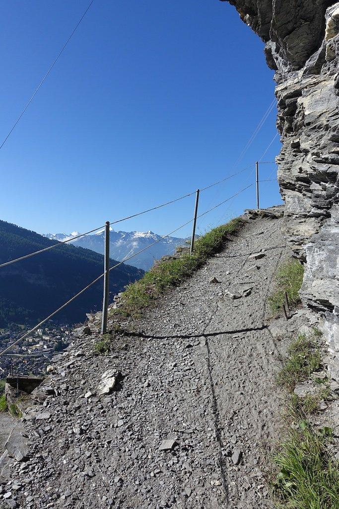 Loèche-les-Bains, Gemmipass, Lämmerenhütte (28.06.2015)