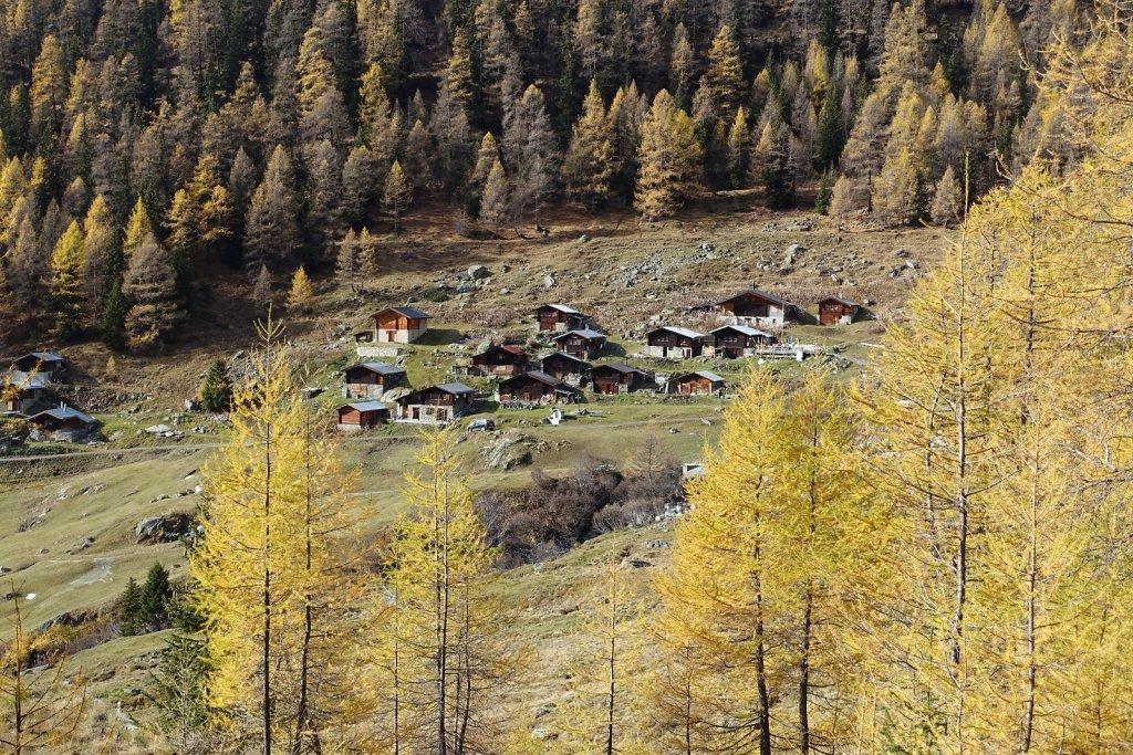 Blatten, Tellialp, Schwarzsee, Fafleralp, Eisten (28.10.2017)