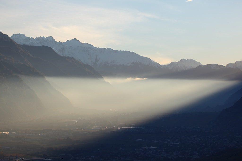 Plaine du Rhône au coucher du soleil